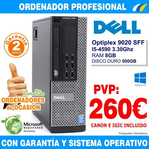 Intel Core i5-4590 3.30Ghz 8GB 500GB - Dell Optiplex 9020 SFF