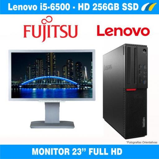 Monitor B23T-6 LED + ​​LENOVO THINKCENTRE M900 SFF
