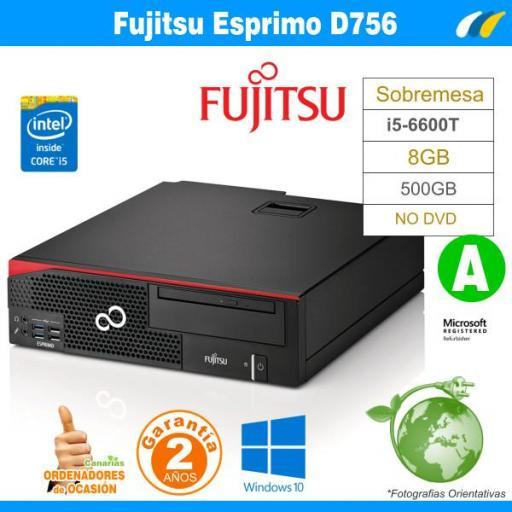 i5-6600T - 8GB - 500GB - Fujitsu Esprimo D756 Sobremesa