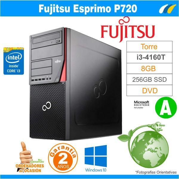 Intel Core I3-4160T 3.30GHz - 8GB - 256GB SSD  - Fujitsu Esprimo P720 Tower