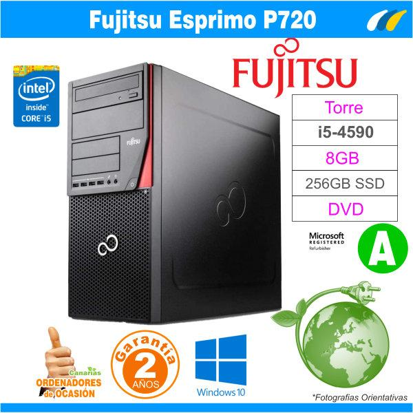 Intel Core I5-4590 3.30GHz - 8GB - 256GB SSD  - Fujitsu Esprimo P720 Tower