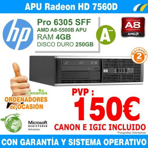 AMD A8-5500B APU 3.20 GHz 8GB 320GB - Hp Pro 6305 SFF [0]