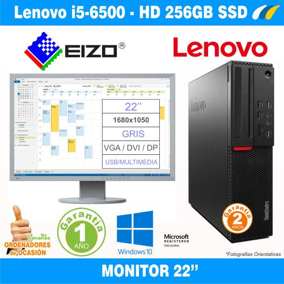 Monitor EIZO FlexScan EV2216W + LENOVO THINKCENTRE M900 SFF