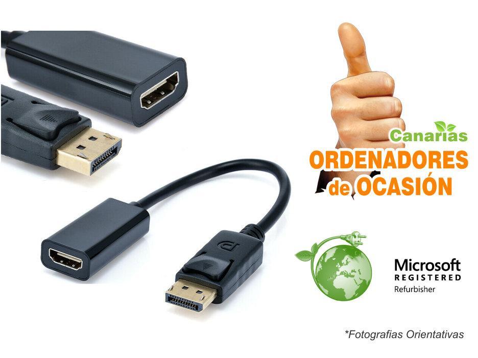 Cable Display Port DP Macho a HDMI Hembra Adaptador Convertidor 20 cm.