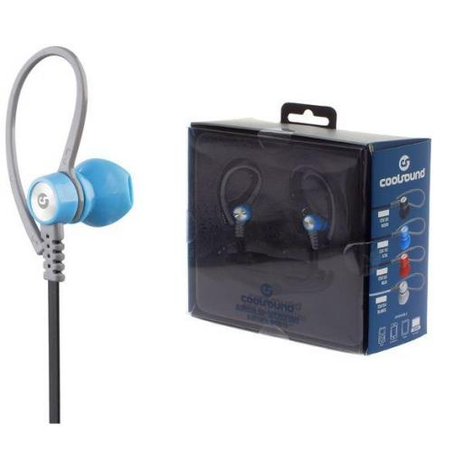 Auricular + Micro Running Sport V5 Bluetooth + Micro Sd Azul Coolsound