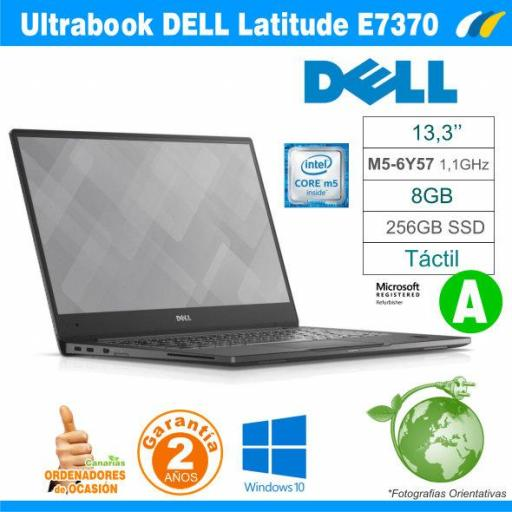 Intel M5-6Y57  – 8GB – 256GB SSD - DELL LATITUDE E7370 - GRADO A