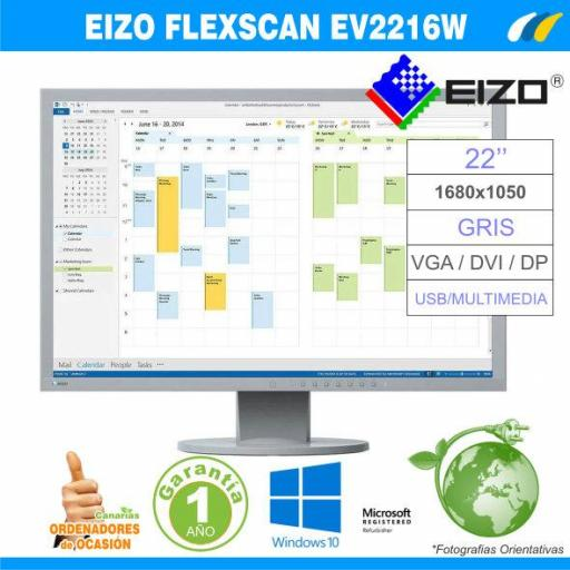 EIZO FlexScan EV2216W Gris [0]