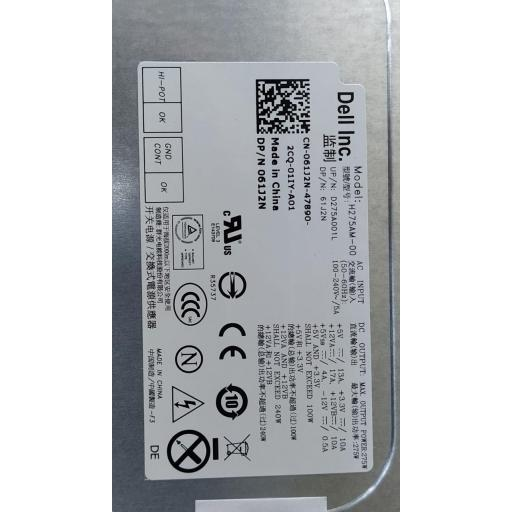 Fuente de alimentación Dell 61J2N H275AM-00 Optiplex 7010 MT, Precision T1650 275W ATX