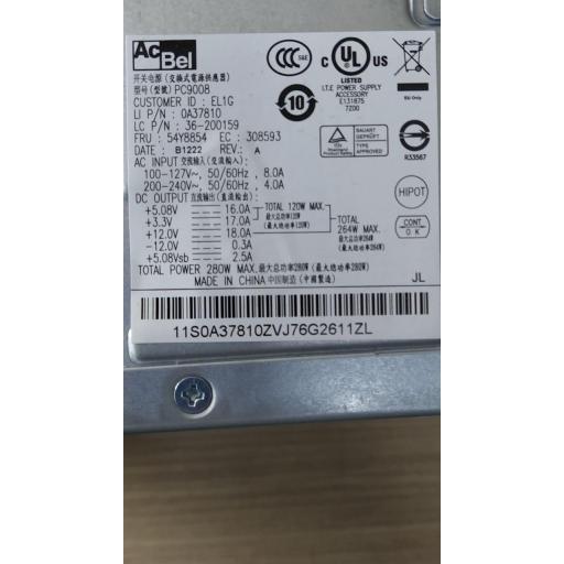 Fuente de alimentación Lenovo ACBEL PC9008 280W ATX