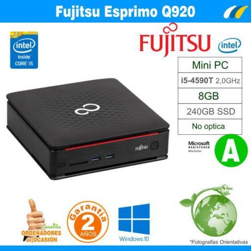 i5-4590T - 8GB - 240GB SSD - Fujitsu Esprimo Q920 Mini PC
