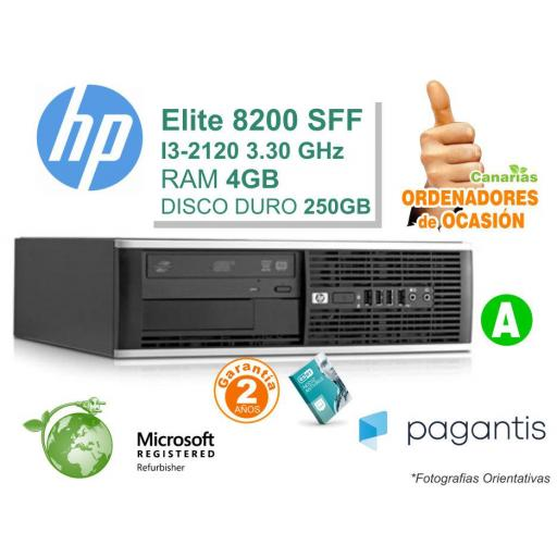Intel I3-2120 3.30GHz 4GB 250GB - HP COMPAQ 8200 ELITE PC [0]