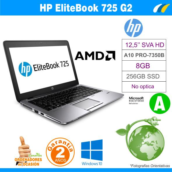 AMD A10 PRO-7350B – 8GB – 256GB SSD - HP EliteBook 725 G2
