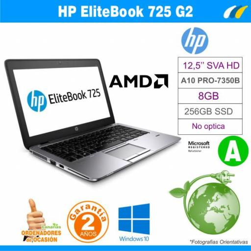 AMD A10 PRO-7350B – 8GB – 256GB SSD - HP EliteBook 725 G2 [0]