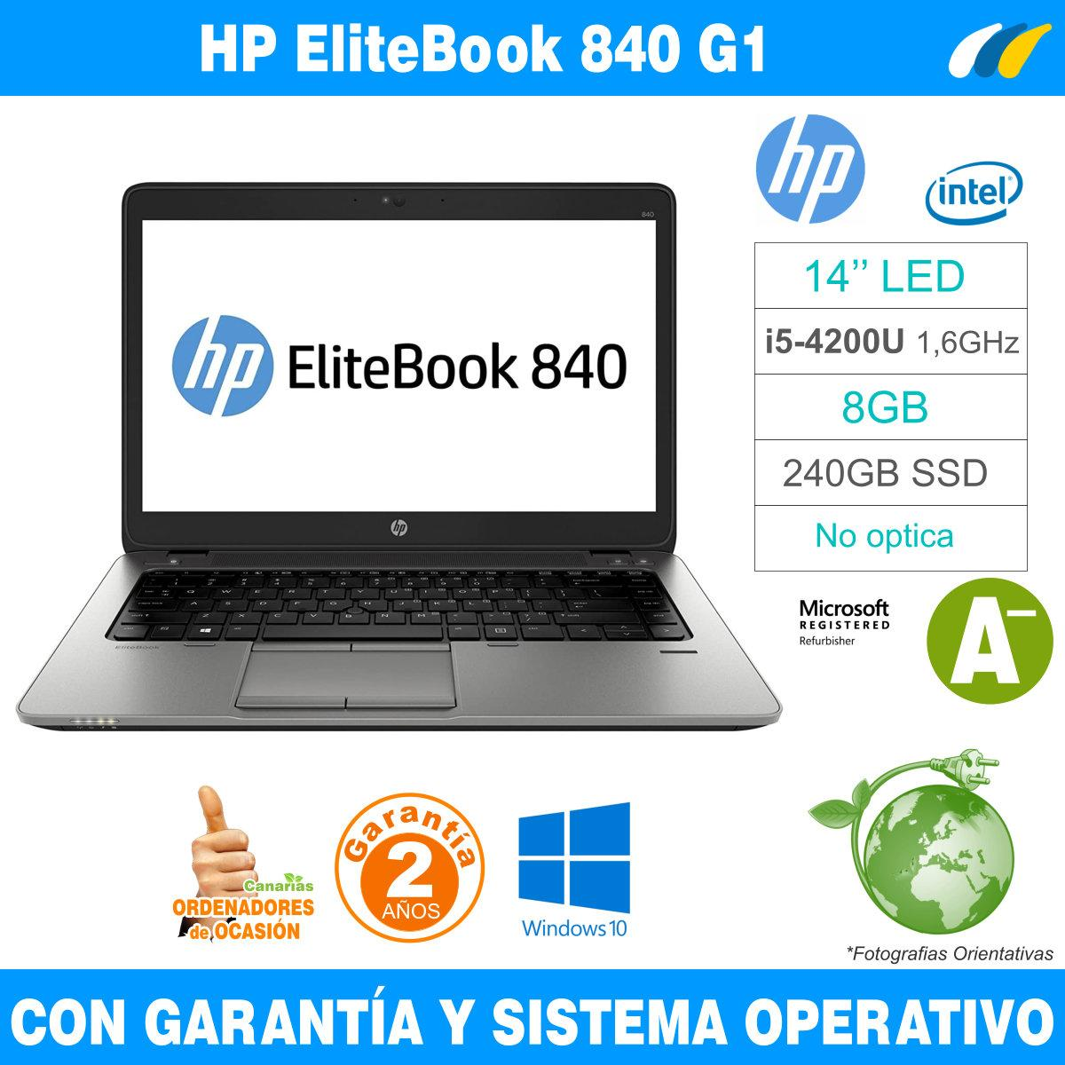 Intel i5-4200U 1,60 GHz  – 8GB – 240 GB SSD  - HP EliteBook 840 G1