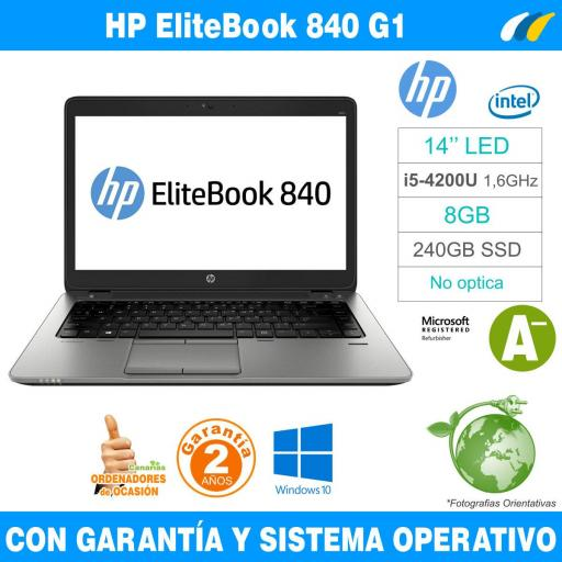 Intel i5-4200U 1,60 GHz  – 8GB – 240 GB SSD  - HP EliteBook 840 G1 [0]