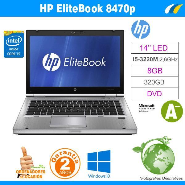 Intel I5-3320M – 8GB – 320GB - HP Elitebook 8470p