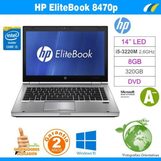 Intel I5-3320M – 8GB – 320GB - HP Elitebook 8470p