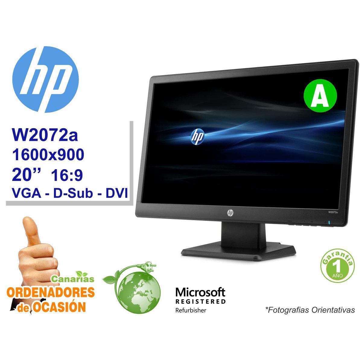 Monitor HP W2072a 20''