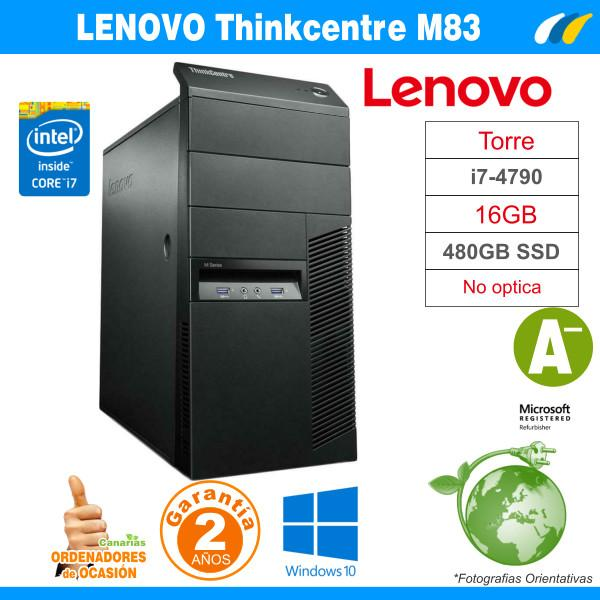 Intel Core I7-4790 3.60GHz - 16GB - 480GB SSD  - LENOVO THINKCENTRE M83 MT