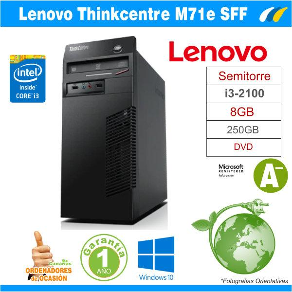Intel Core i3-2100 3.10 GHz 8GB - LENOVO M71e Tower