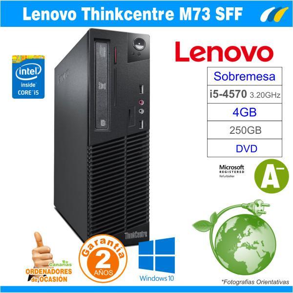 Intel Core I5-4570 3.20 GHz - 4GB - 250GB  - LENOVO THINKCENTRE M73 SFF
