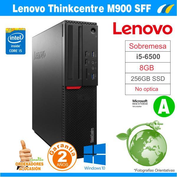 Intel Core I5-6500 3.20GHz - 8GB - 256GB SSD  - LENOVO THINKCENTRE M900 SFF
