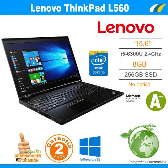 Intel i5-6300U  – 8GB – 240GB SSD - LENOVO THINKPAD L560