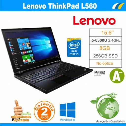Intel i5-6300U  – 8GB – 240GB SSD - LENOVO THINKPAD L560
