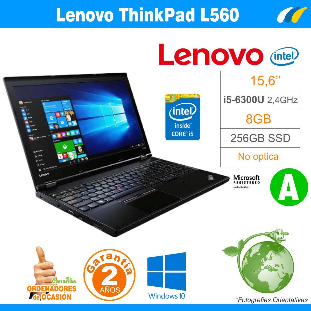 Intel i5-6300U  – 8GB – 240GB SSD - LENOVO THINKPAD L560 - GRADO A