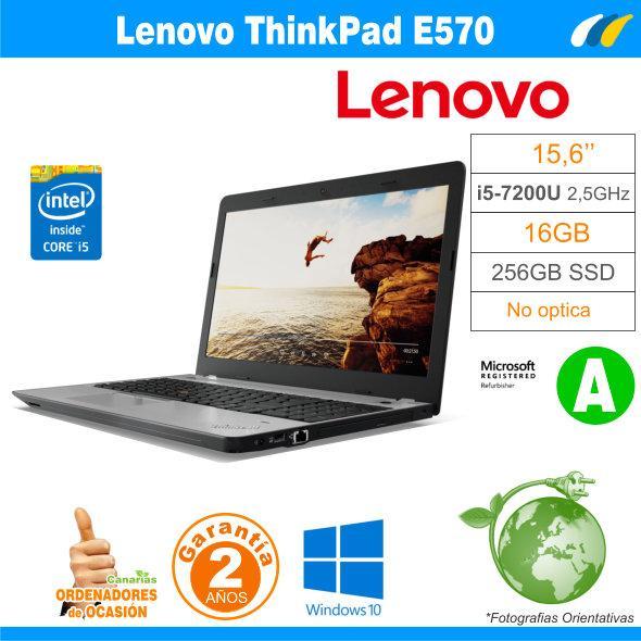 Intel i5-7200U  – 16GB – 256GB SSD - LENOVO THINKPAD E570 - GRADO A