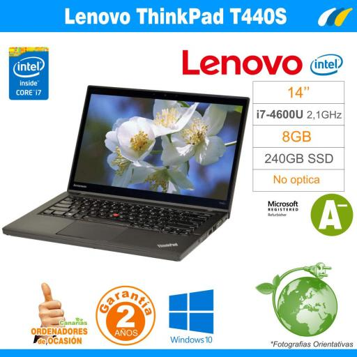Intel® I7-4600U - 8GB - 240GB SSD - LENOVO THINKPAD T440S