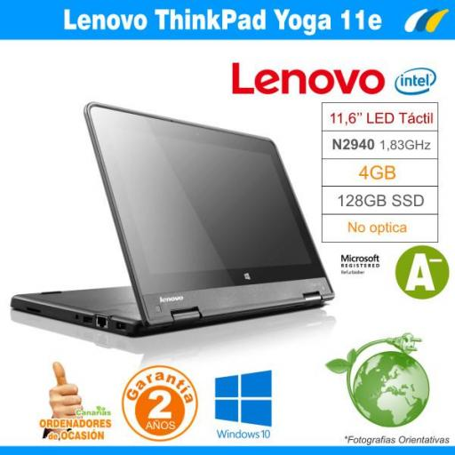Celeron N2940 1.83 GHZ  – 4GB – 128GB ssd - LENOVO THINKPAD YOGA 11e