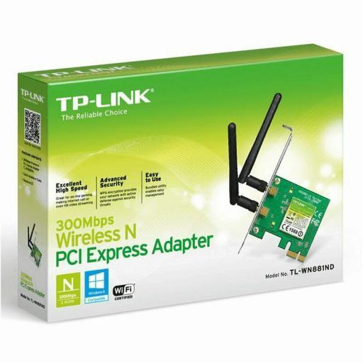 TP-LINK TARJETA PCI-E WIRELESS N 300MBPS