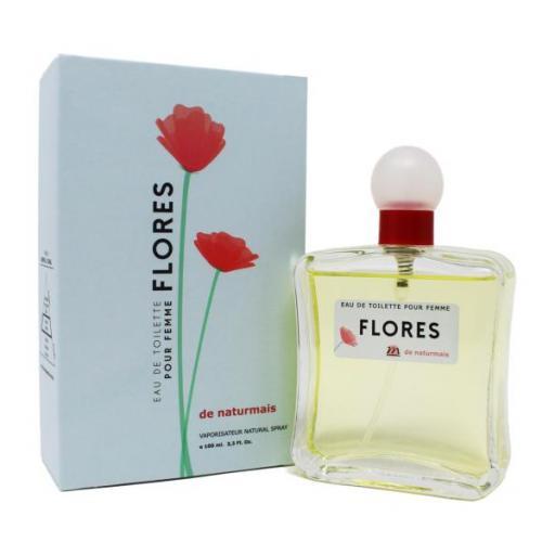 FLORES Pour Femme Naturmais 100 ml.