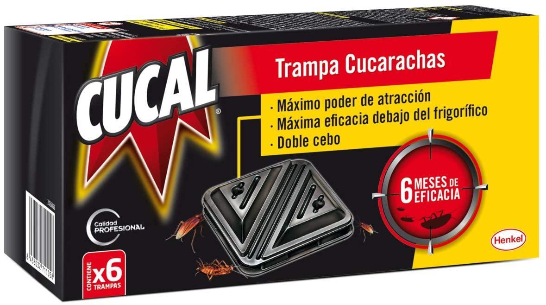 Cucal Trampa Cucarachas 6 Unidades.