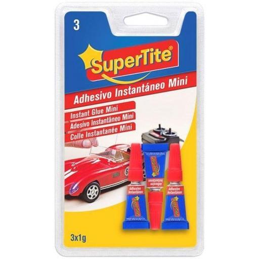 Supertite Adhesivo Instantáneo Minidosis 3x1g.
