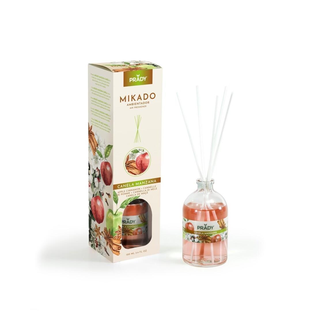 Ambientador Mikado Manzana y Canela Prady 100 ml.
