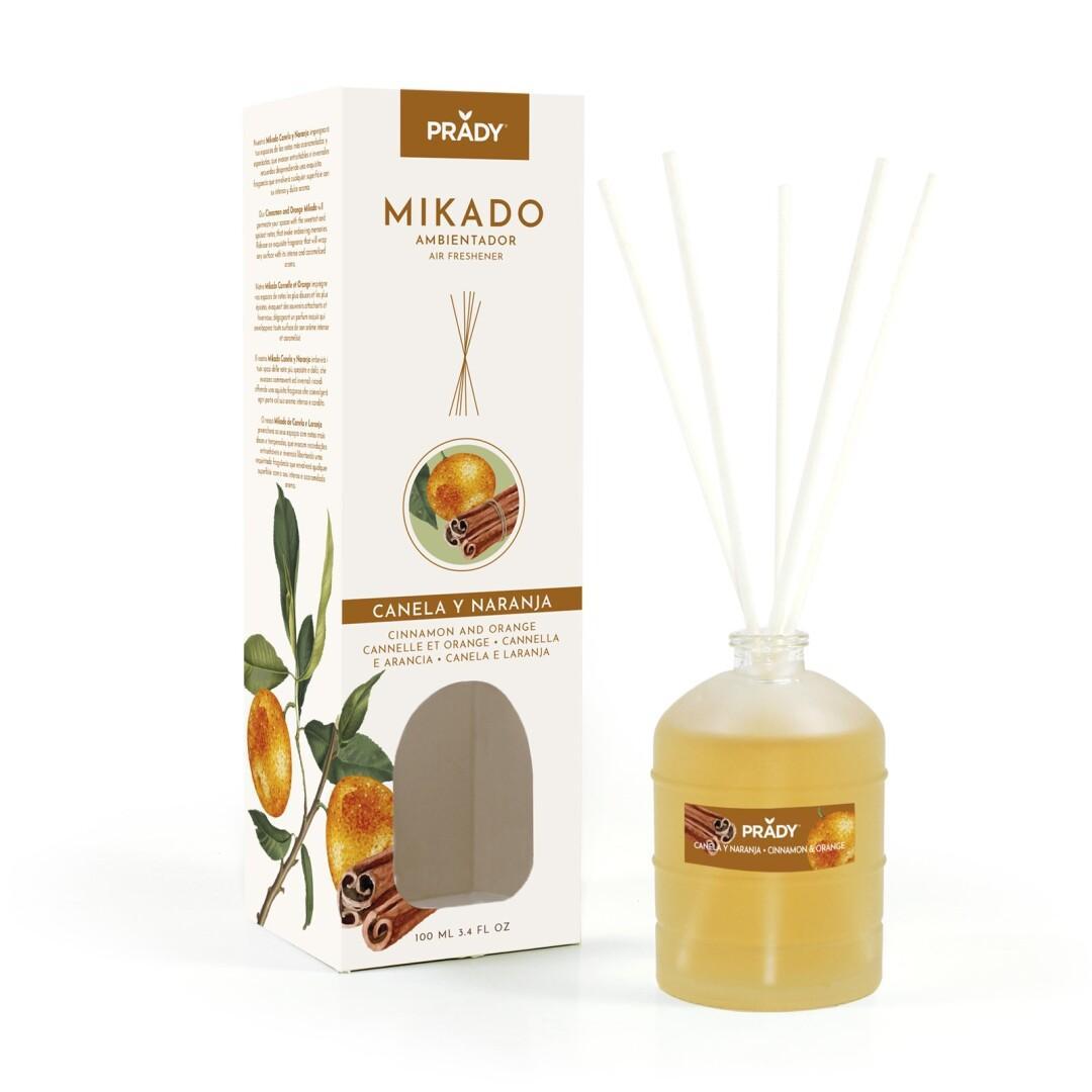 Ambientador Mikado Canela y Naranja Prady 100 ml.