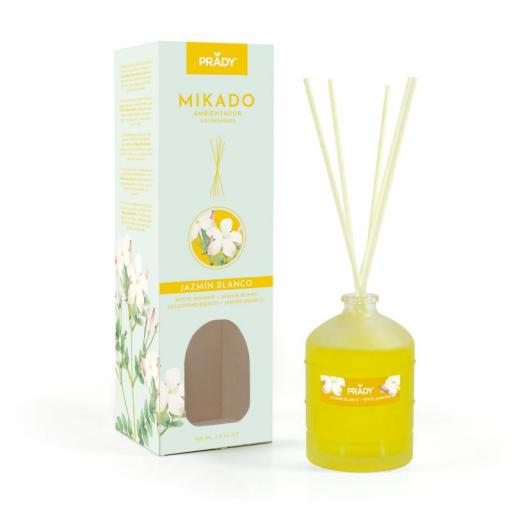 Ambientador Mikado Jazmín Blanco Prady 100 ml.