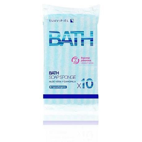 Esponja BATH SOAP Suavipiel 10 unidades.