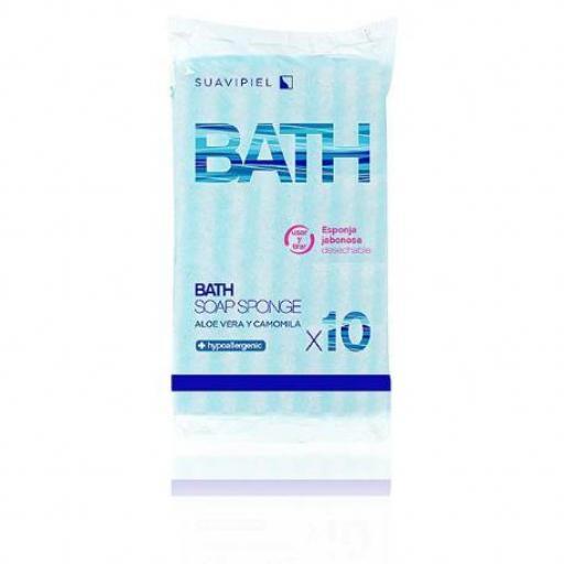 Esponja BATH SOAP Suavipiel 10 unidades. [0]