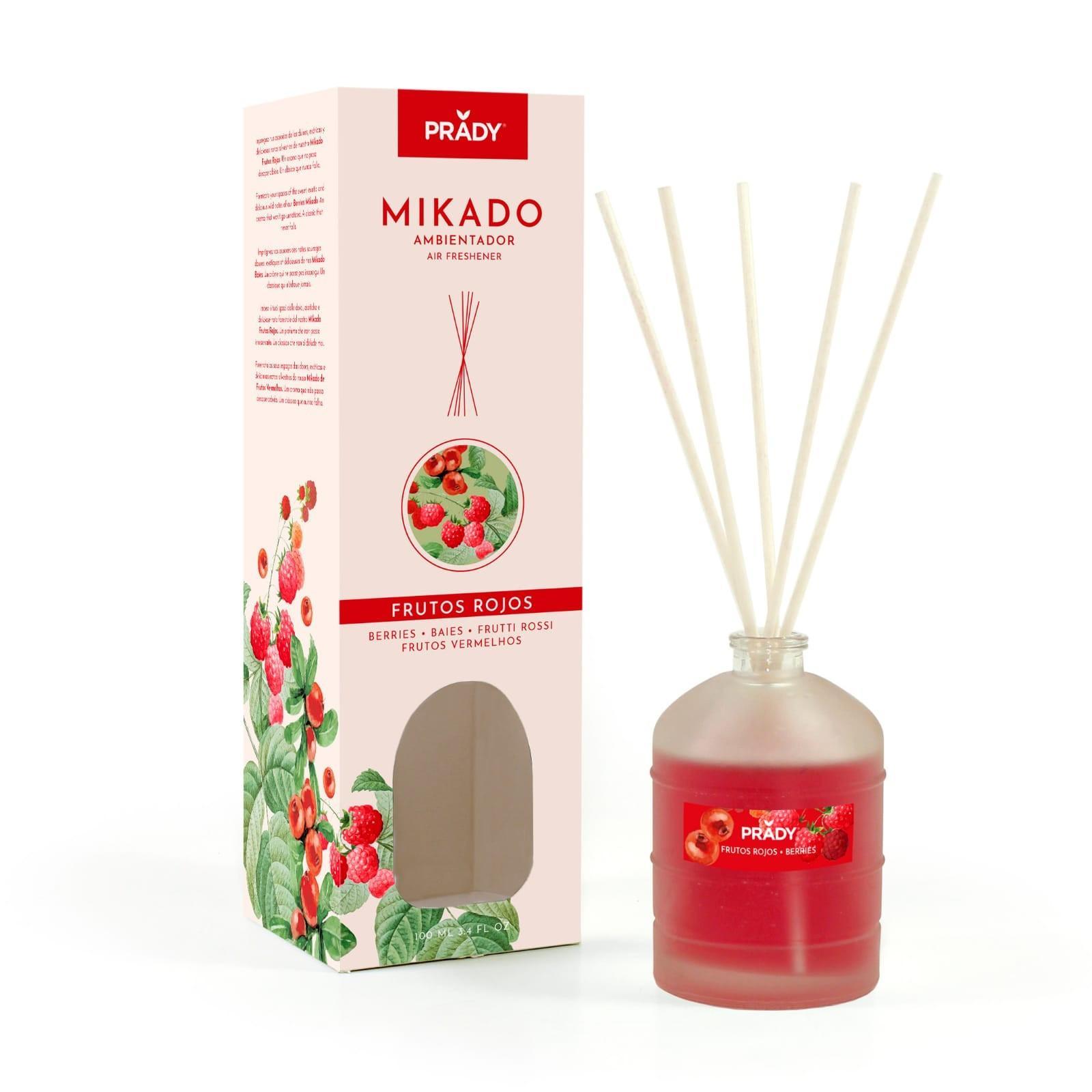 Ambientador Mikado Frutos Rojos Prady 100 ml.