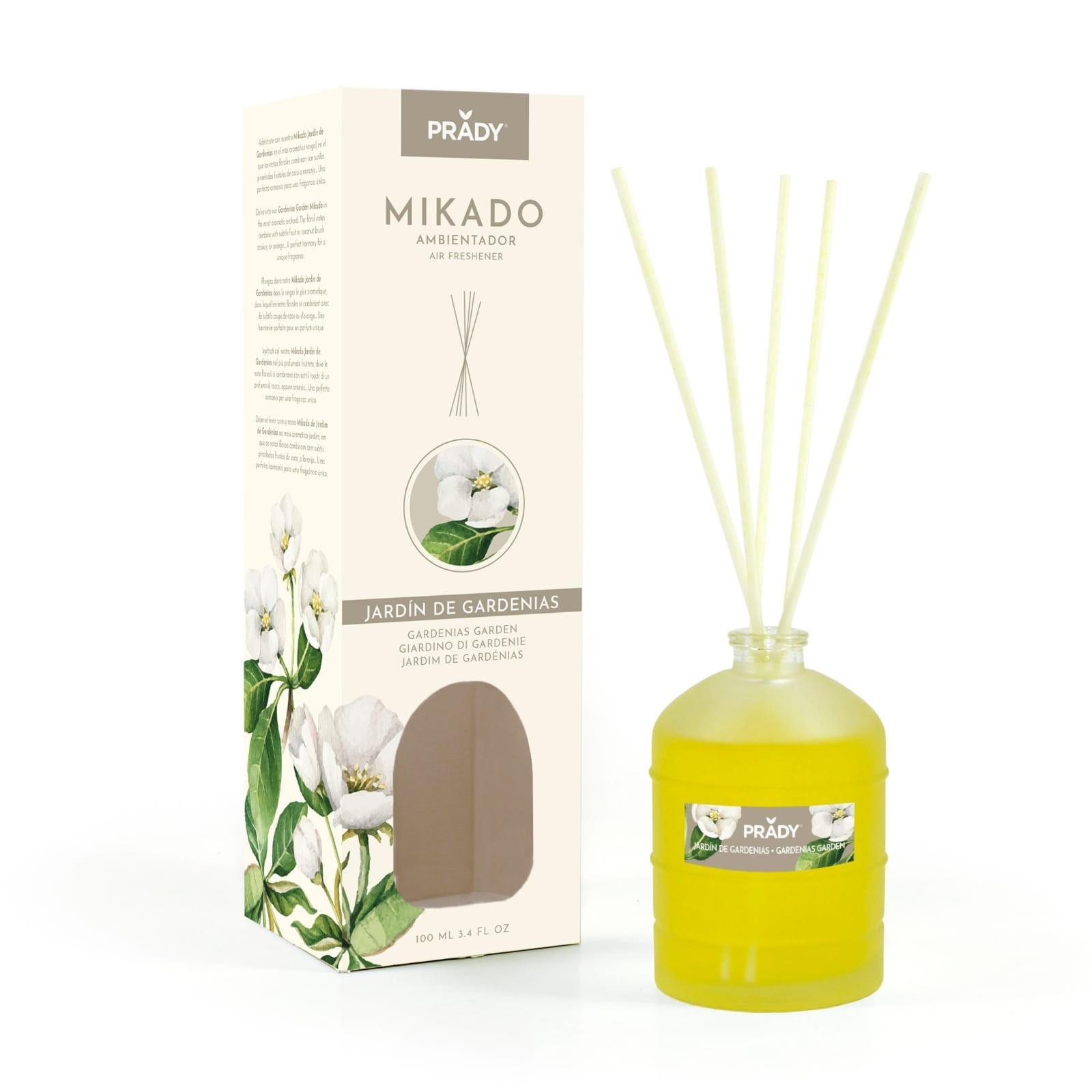 Ambientador Mikado Jardín de Gardenias Prady 100 ml.