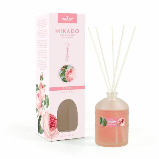 Ambientador Mikado Rosas 100 ml. Prady
