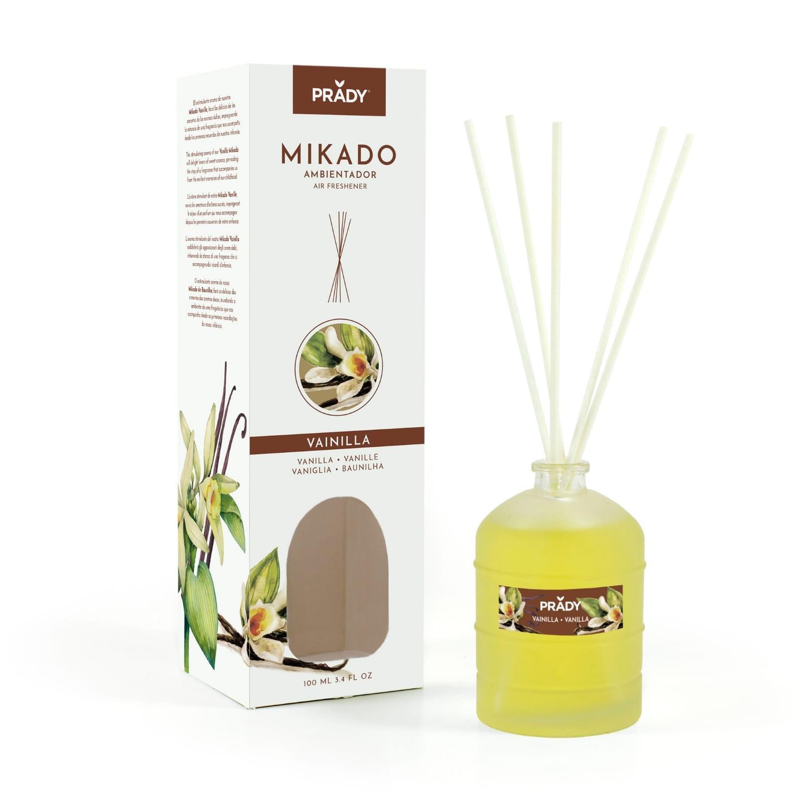 Ambientador Mikado Vainilla 100 ml. Prady