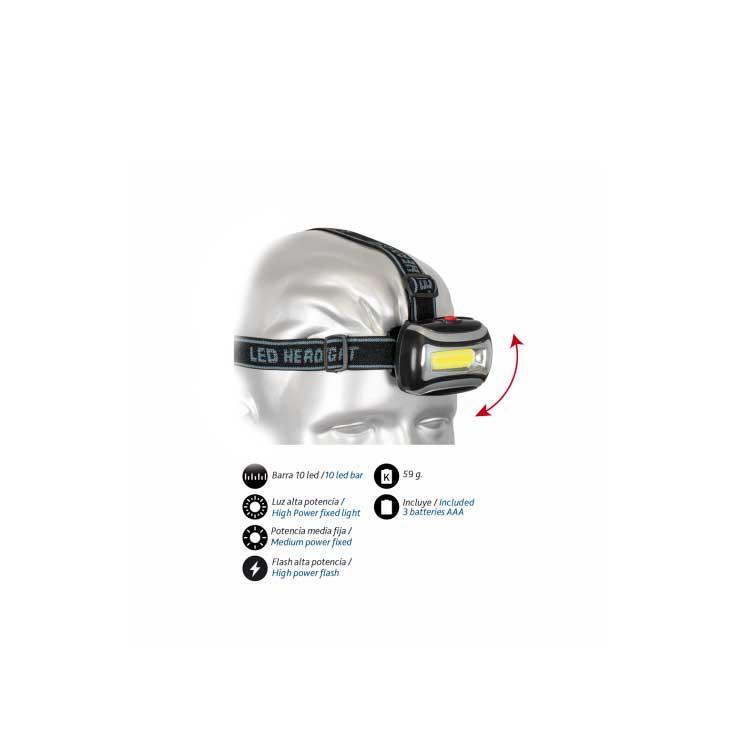 Linterna Frontal 10 LED