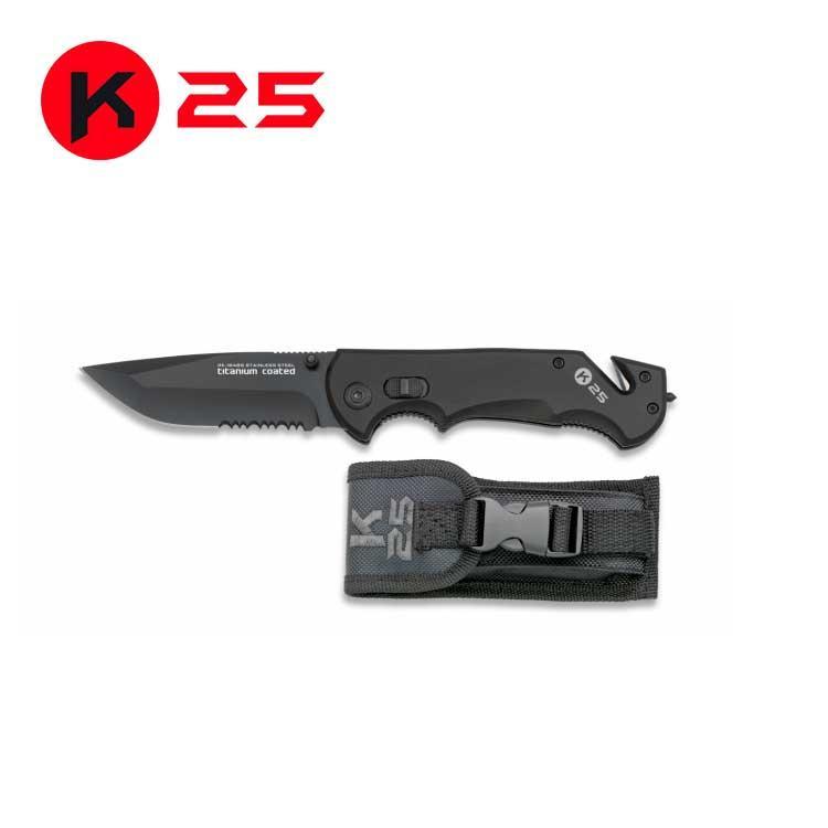 Navaja K25 Seguridad Negra