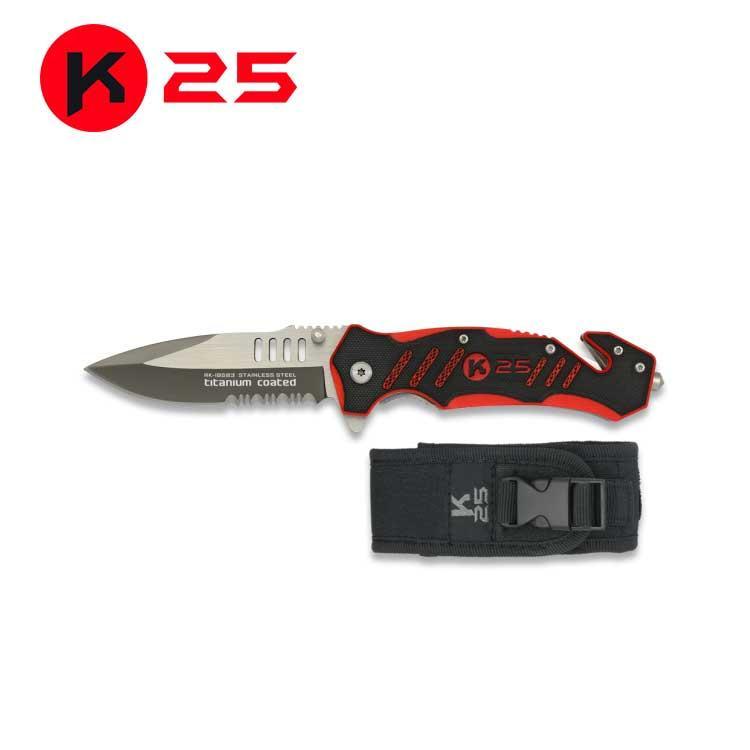 Navaja Tactica K25 G10 Roja