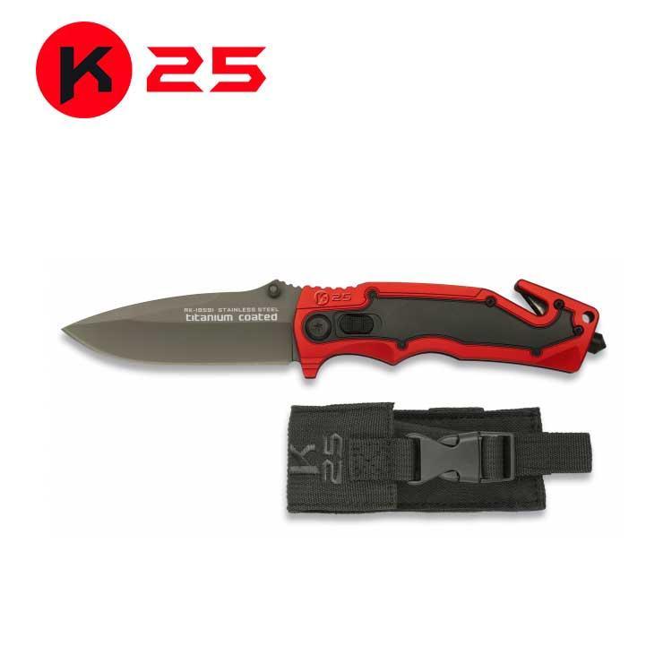 Navaja K25 Roja/Negra