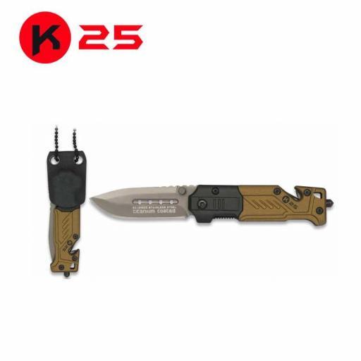 Navaja K25 Coyote con Funda Kydex